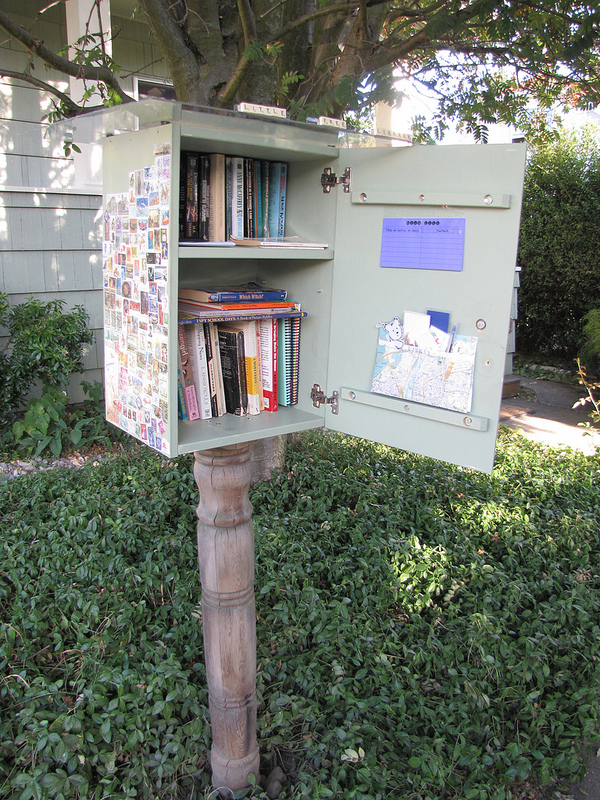 """Little Free Library"" on 16th Ave S. by litlnemo (cc by)"