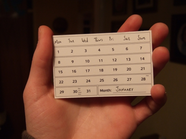 """Calendar Card - January,"" by Joe Lanman on Flickr. Used under a Creative Commons Attribution 2.0 license."